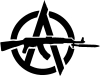 Revolutionary Anarchism with an AK47 (by Radical Graphics) --- Description: This image came from http://www.RadicalGraphics.org/.Keywords: Circled A, A, Anarchy, Ak47, Ak-47, Gun, Machine Gun, Knife, Militant.