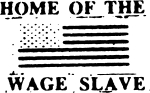 Artwork --- America: Land of the Oppressed and Home of the Wage Slave (Anti-Capitalism and Anti-Exploitation Directory | Description : This image came from http://www.RadicalGraphics.or... | Tags : America, United States, Us, American Flag, Us Flag...) ::: By Radical Graphics (About: All material posted here originally appeared at ht... | Ideals: Anarchy, Animal Liberation, Anti-America, Anti-Bio...)